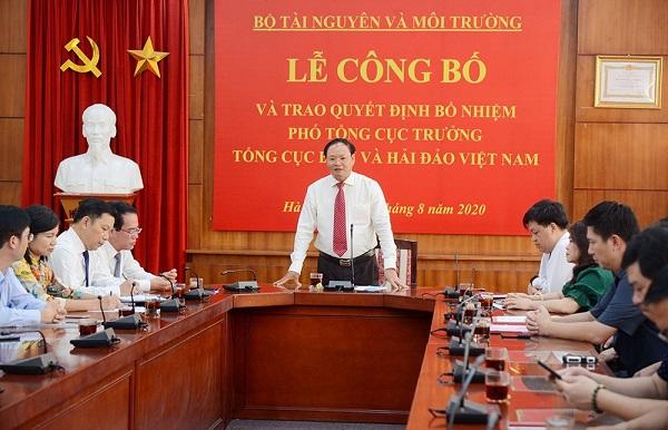 Bổ nhiệm ông Trương Đức Trí giữ chức Phó Tổng cục trưởng Tổng cục Biển và Hải đảo Việt Nam