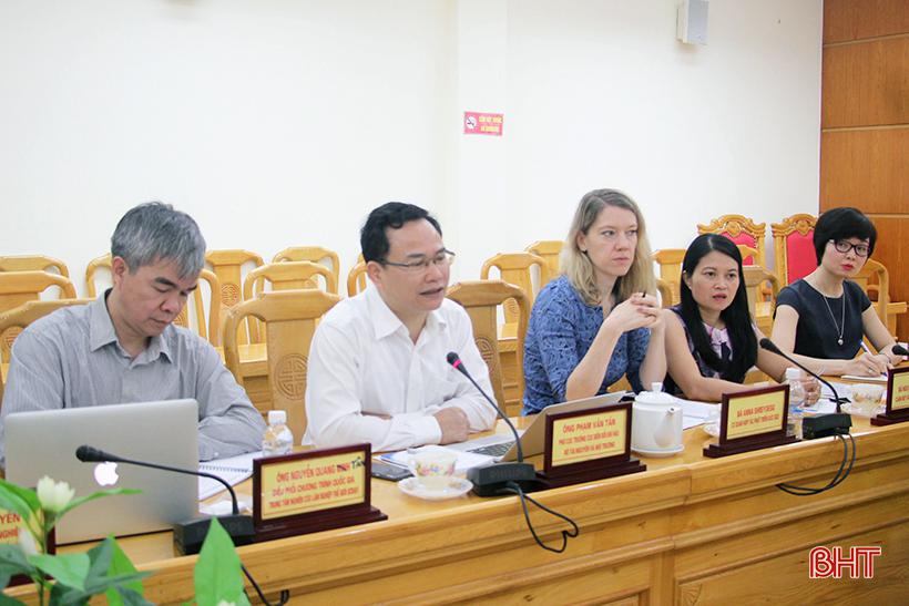 Dự án hỗ trợ Việt Nam thực hiện thỏa thuận Paris đầu tư 1,2 triệu EUR cho Hà Tĩnh